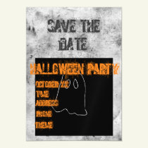 Save the Date Halloween Party Magnet Invitation