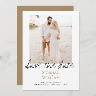 Save The Date Handwritten Personalized Photo