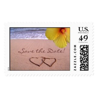 Save the Date - Hawaii Style Stamps