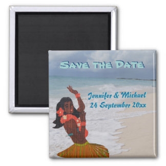 Save the Date Hawaiian Wedding Magnet