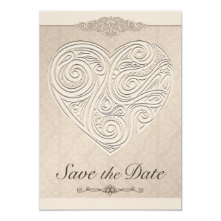 Save the Date Heart Announcement