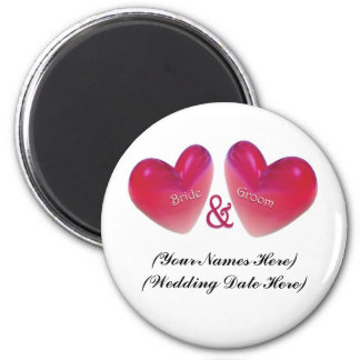 Save the Date Heart Magnet