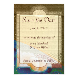 Save the Date Heaven & Earth Wedding Announcement