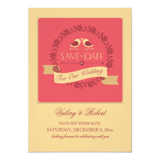 Save the Date Holiday Birds Announcement