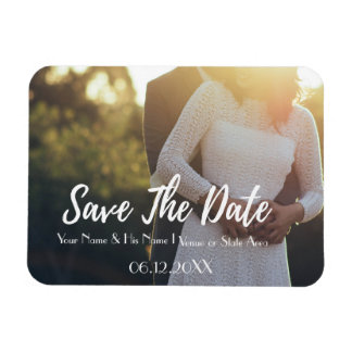 Save the Date Horisontal Script Magnet