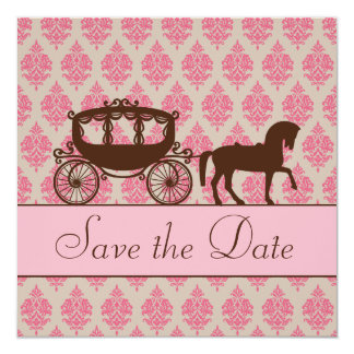 Save the Date Horse and Carriage Invitation
