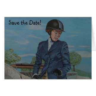 Save the Date Horse Show Card
