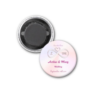 Save the Date I love you infinitely 1 Inch Round Magnet