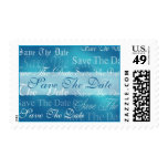 Save The Date In Aqua Event and Wedding Postage