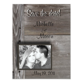 Save the date! in Barnwood Card