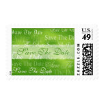 Save The Date In Green Event and Wedding Postage