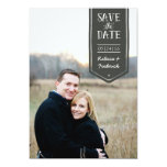 Save the Date in hand-drawn style, custom photo 5x7 Paper Invitation Card