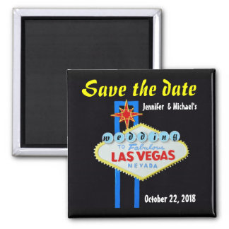 Save the Date in Las Vegas 2 Inch Square Magnet