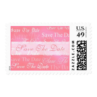 Save The Date In Pink Event and Wedding Postage