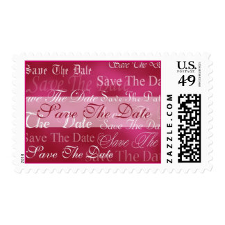 Save The Date In Red Event and Wedding Postage