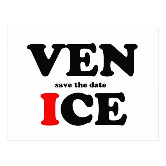 SAVE THE DATE IN VENICE POSTCARD