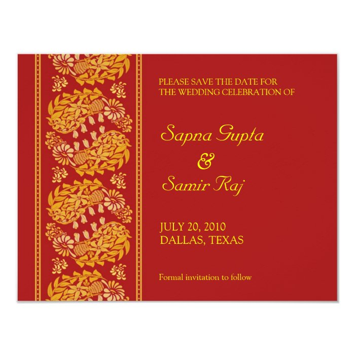 Save The Date Indian Style Card