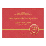 """Save The Date Indian Style Flat Card 5"""" X 7"""" Invitation Card"""