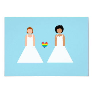 Save the date -- interracial lesbian couple card
