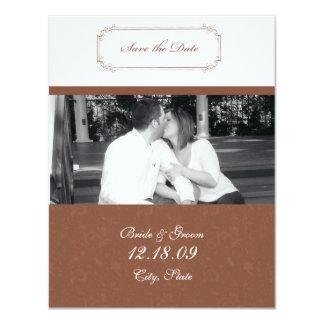 Save the date custom invitation