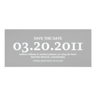 """Save the Date 4"""" X 9.25"""" Invitation Card"""
