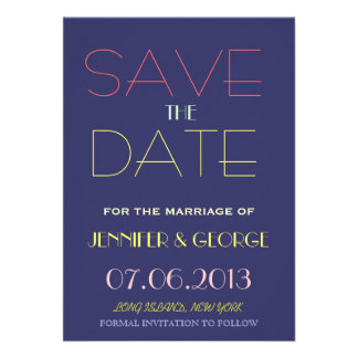 Save the Date Invitation Announcement