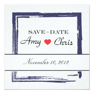 Save the Date Invitation -- Asian Blue Wedding