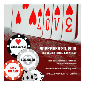 Save The Date Invitation Love Casino Card 3