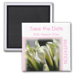 Save the Date Invitation Magnet Calla Lilies