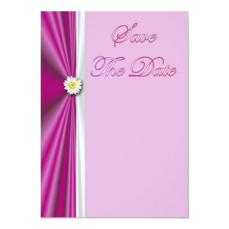 Save The Date Invitation with flower daisy
