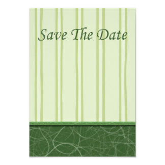 Save The Date Invitation with green pin stripe