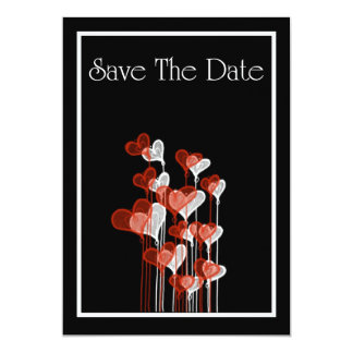 Save The Date Invitation with love hearts