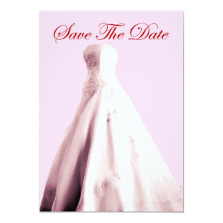 Save The Date Invitation with Wedding gown