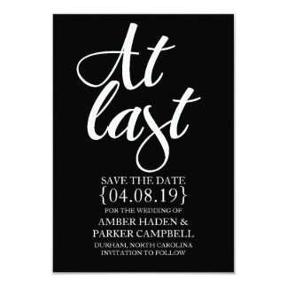 Save the Date Invite | At Last