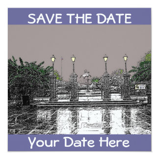 SAVE THE DATE-Jackson Square New Orleans 5.25x5.25 Square Paper Invitation Card