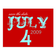 Save the Date - July - Customized Post Card