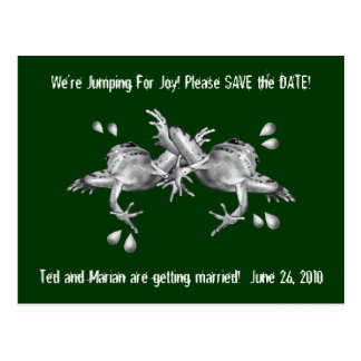 SAVE THE DATE: JUMPING FOR JOY: FROGS IN PENCIL POSTCARD