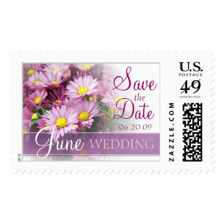 Save the Date - June Wedding Postage Stamp