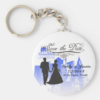SAVE THE DATE KEYCHAIN WITH VIEW OF LAS VEGAS