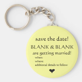 save the date keyring keychain