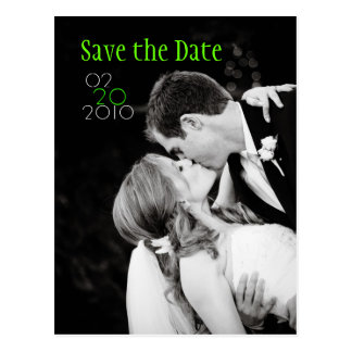 Save the Date Kiss Postcard