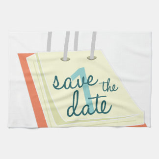 Save The Date Hand Towel