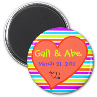 Save the date kokoro 2 inch round magnet