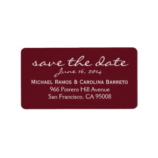 Save the Date Labels - Wine