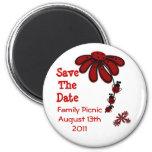 Save The Date Ladybug Magnets