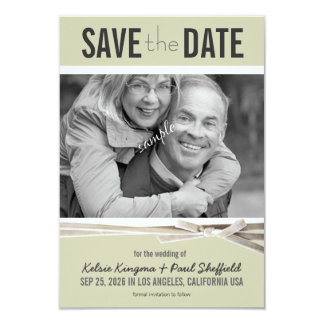 Save the Date Large Photo Gray Card