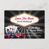 Save The Date Las Vegas Casino Cards Dice