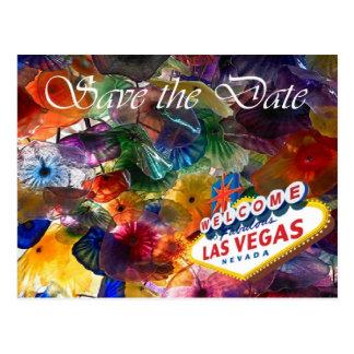 Save the Date Las Vegas Flowers Postcards
