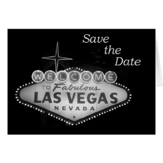 Save the Date Las Vegas Invitations Greeting Card