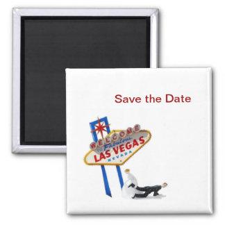 Save the Date Las Vegas Magnet